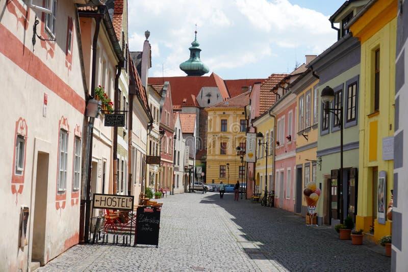 Narrow street in Budvar royalty free stock photography