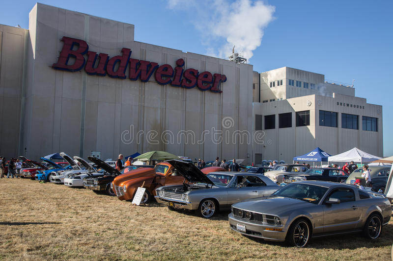 Budweiser Car Show 2014 royalty free stock photography