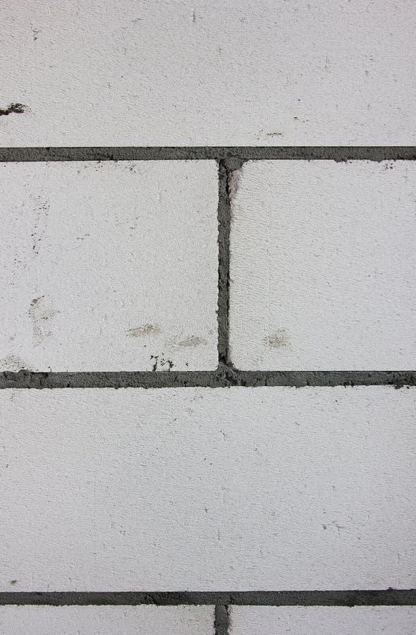 Budynek ściany tło Popielate cegły cementowa podstawa zdjęcia stock