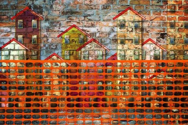 Budynek aktywności pojęcia wizerunek z ora i budową fotografia stock