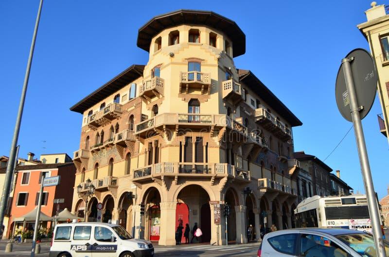 Budynek architektura od Kwadratowego Prato Della Valle w Padua, Włochy zdjęcie royalty free