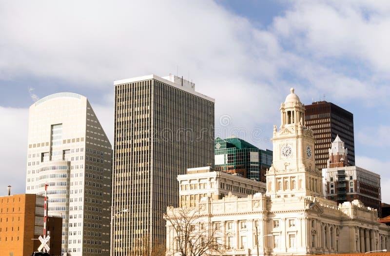 Budynek architektury śródmieścia Des Moines Iowa miasta linia horyzontu zdjęcia stock