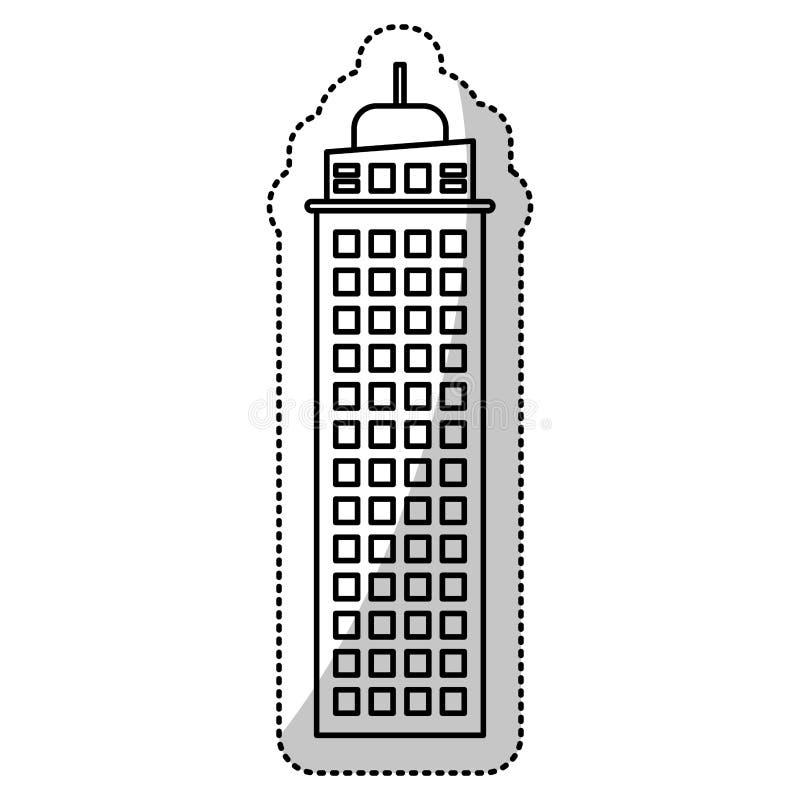 budynek architektury fasady cięcia linia ilustracja wektor