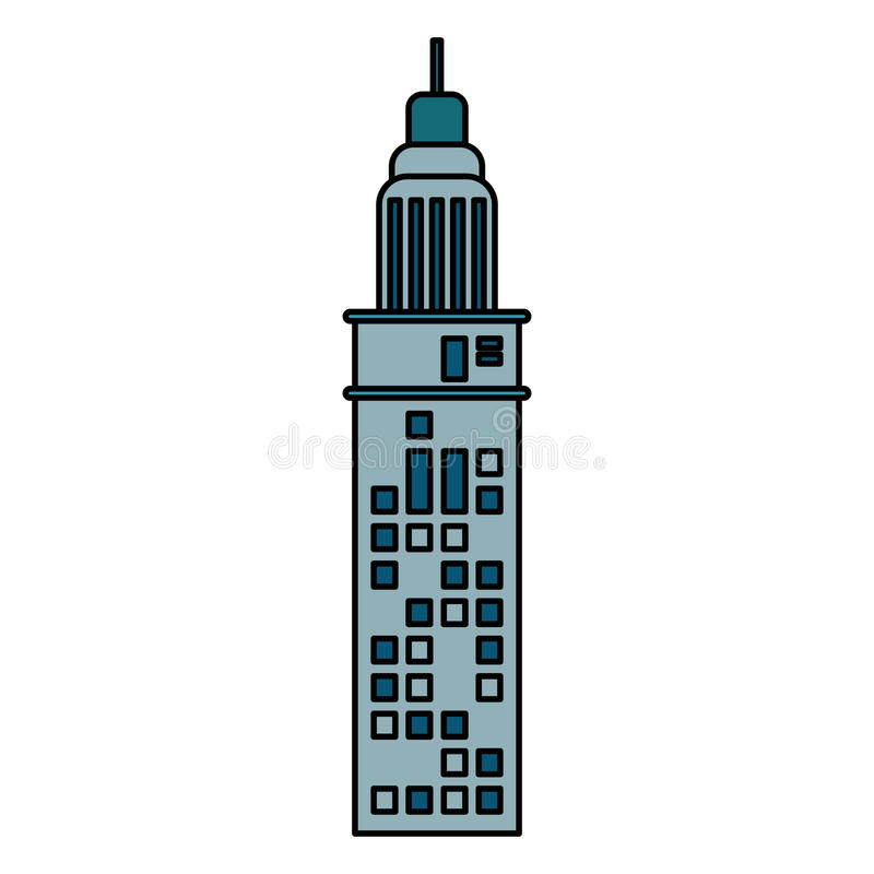 budynek architektury nowożytna antena ilustracji