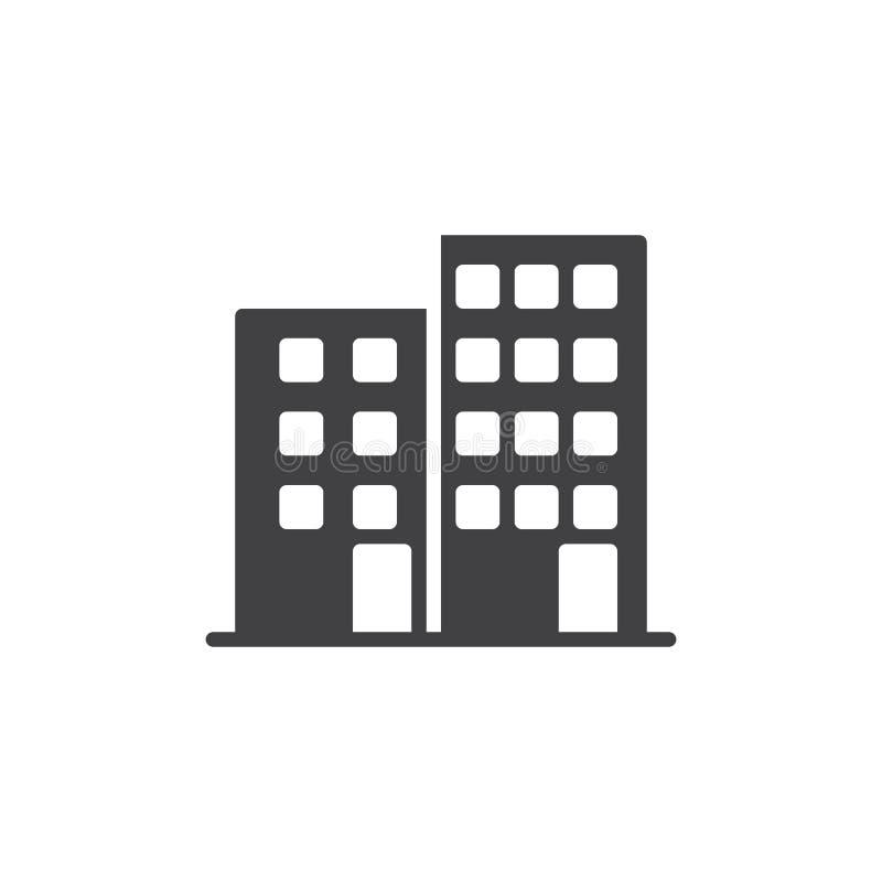 Download Budynek Biurowy Ikony Wektor Ilustracja Wektor - Ilustracja złożonej z symbol, ikona: 106919615