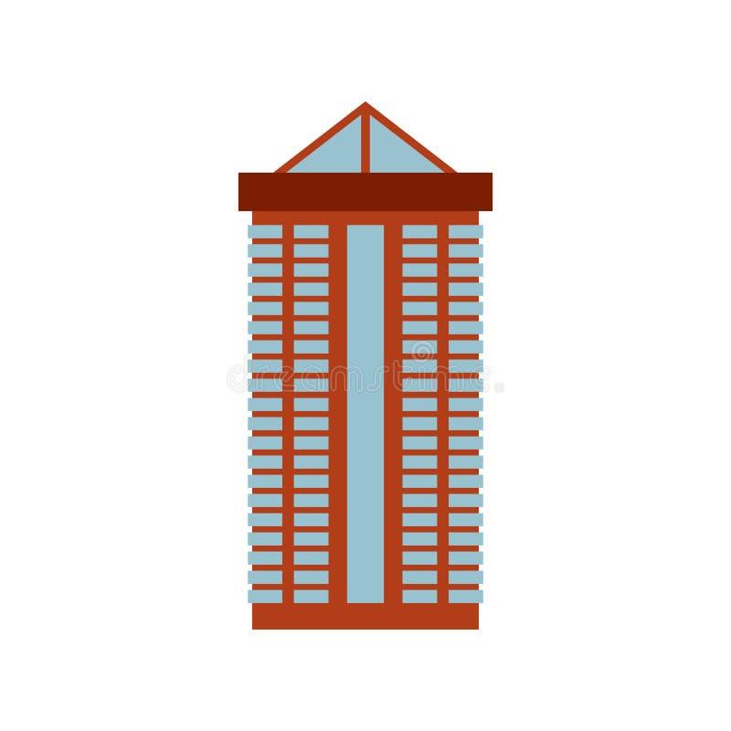 Budynek biurowy odizolowywający miasto architektury znak Biznesowy struc ilustracji