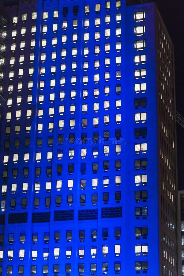 Budynek biurowy przy nocą, Londyn, UK obraz royalty free