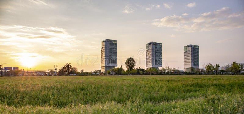Budynek biurowy w Brescia zdjęcie royalty free