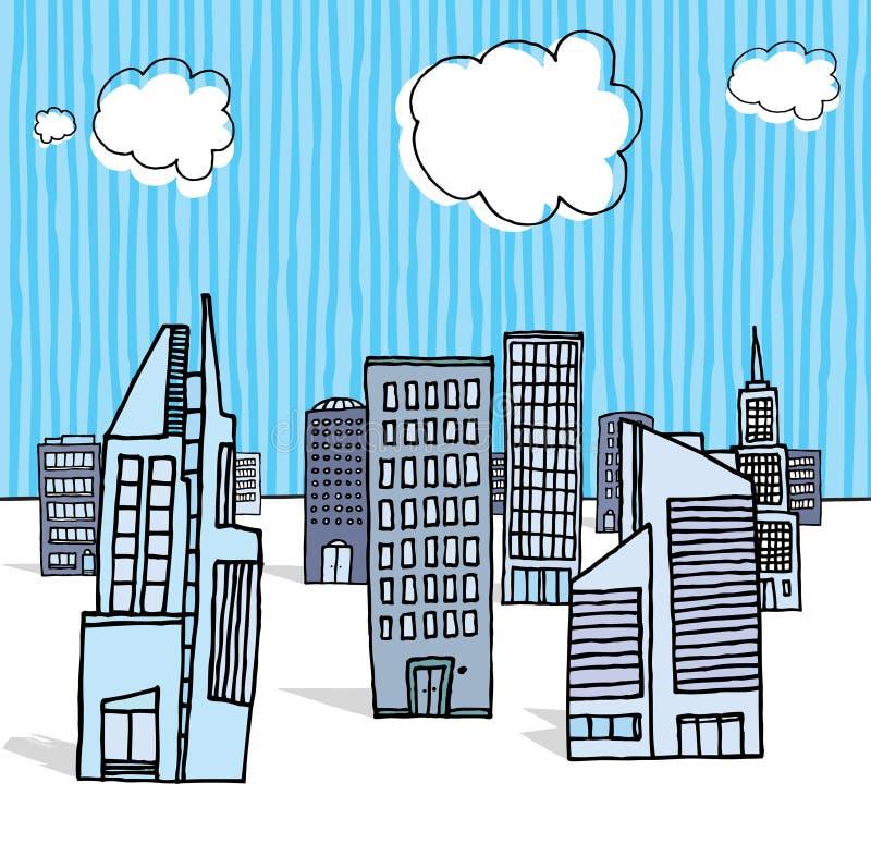 Budynek biurowy/dzielnica biznesu royalty ilustracja