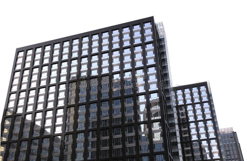 Budynek biurowy z odbiciami fotografia stock