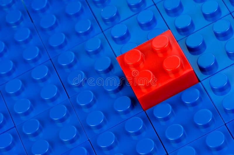 budynek blokowa czerwień zdjęcie stock
