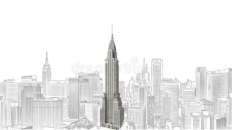 budynek Chryslera obraz royalty free