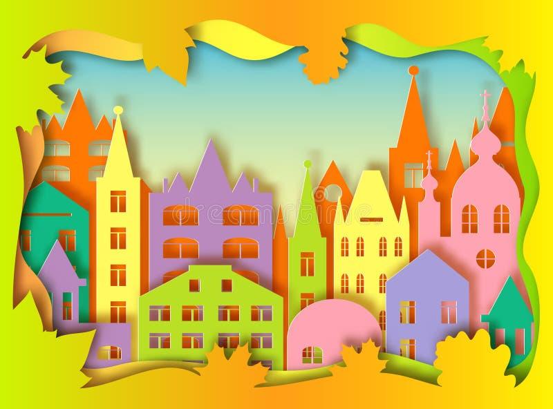 Budynek duży miasto royalty ilustracja