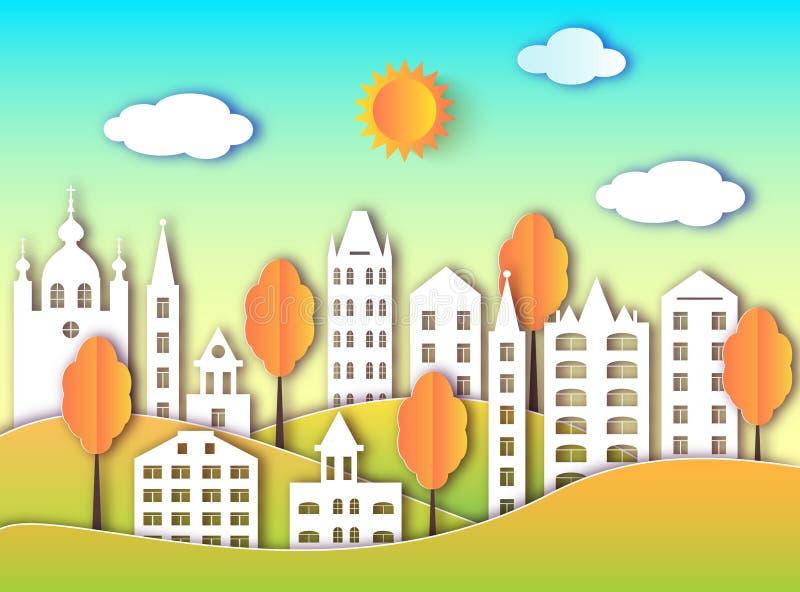 Budynek duży miasto ilustracja wektor