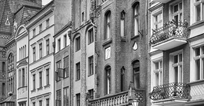 Budynek fasady w Toruńskim starym miasteczku, Polska obraz royalty free