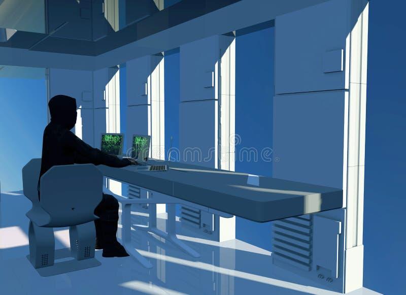 Budynek, hackery w akcji, bezpiecze?stwa komputerowego pogwa?cenie Bezprawny nabycie informacja Prywatno?ci naruszenie zdjęcia royalty free