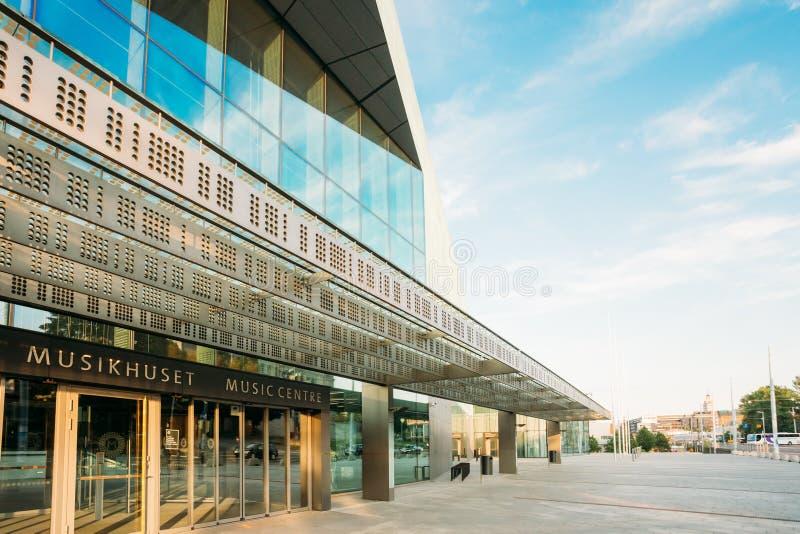 Budynek hali koncertowej muzyczny centre w Helsinki zdjęcie stock