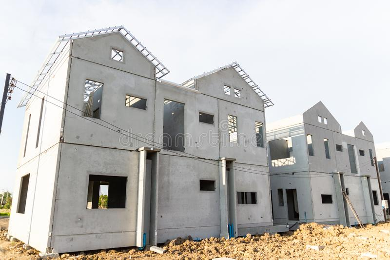 Budynek i budowa nowy dom zdjęcia royalty free
