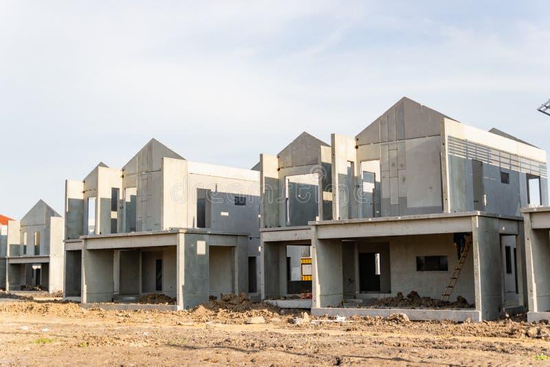 Budynek i budowa nowy dom obraz stock