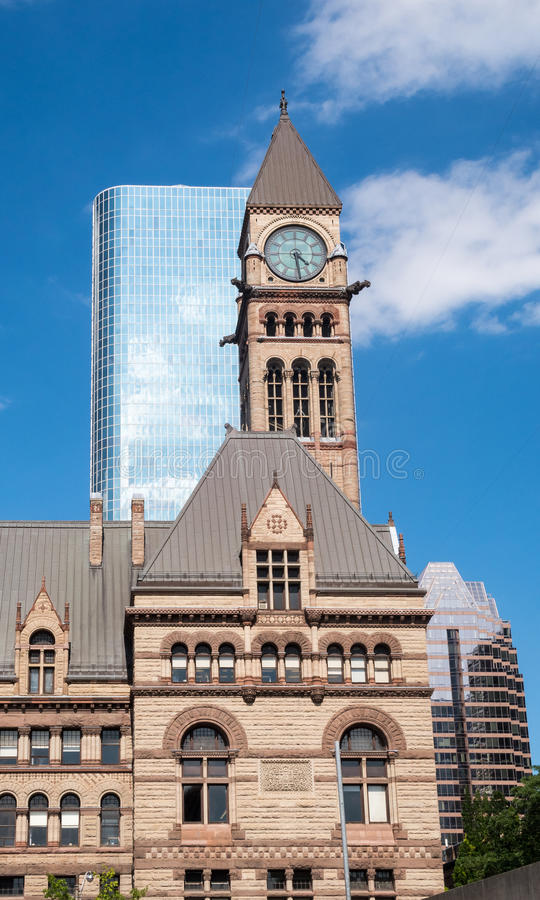 Budynek i linia horyzontu Toronto w Ontario obraz royalty free