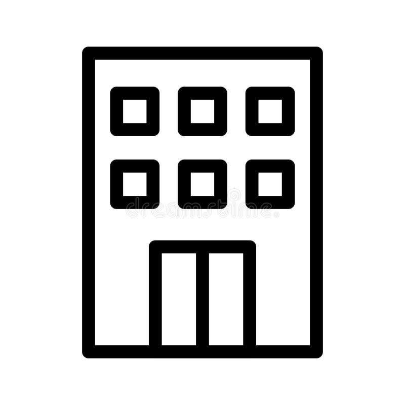 budynek ikona ilustracja wektor