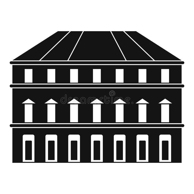Budynek ikona, prosty styl royalty ilustracja