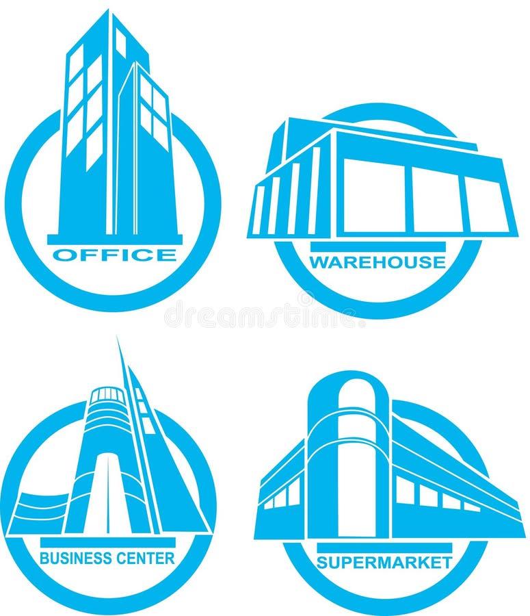 budynek ikony ilustracja wektor