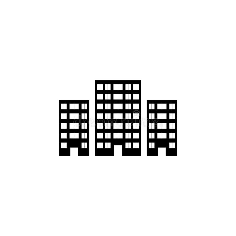 Budynek ikony wektorowy ilustracyjny symbol ilustracji