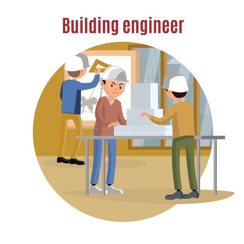 Budynek inżynierii pojęcie royalty ilustracja