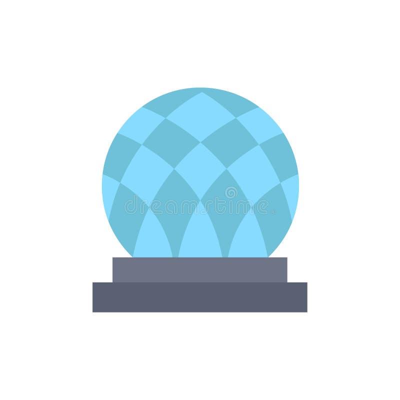 Budynek, Kanada, miasto, kopuła koloru Płaska ikona Wektorowy ikona sztandaru szablon ilustracja wektor