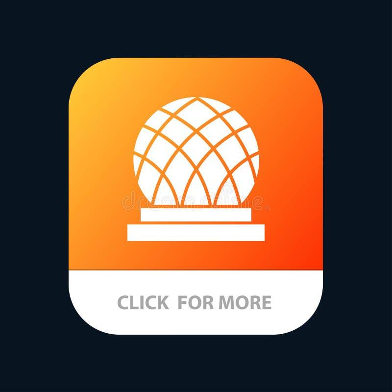 Budynek, Kanada, miasto, kopuły App Mobilny guzik Android i IOS glifu wersja ilustracja wektor