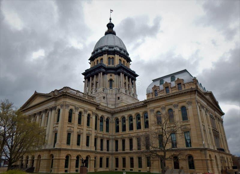 budynek kapitolu stan Illinois zdjęcie stock