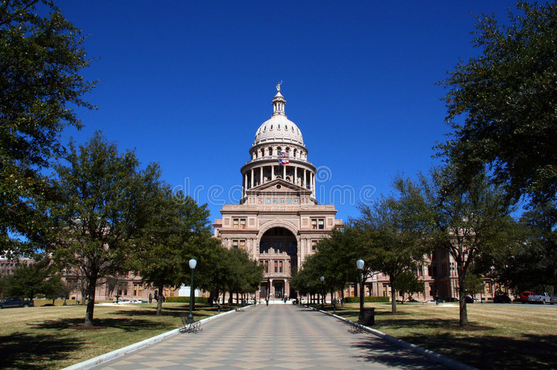 budynek kapitolu wejściowe stanu Teksas zdjęcia stock