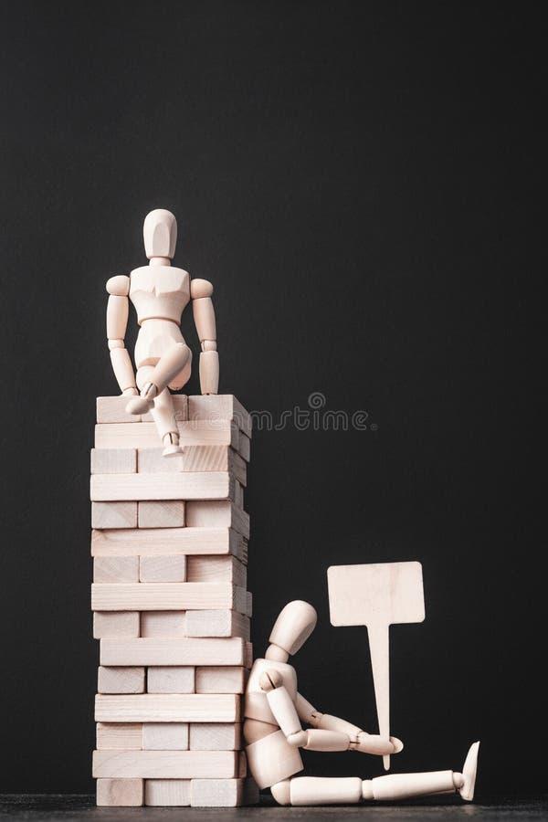 Budynek kariery sukcesu niepowodzenia bezrobocie obraz stock