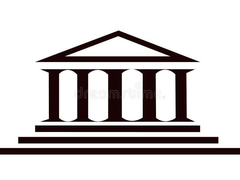 budynek kolumny royalty ilustracja