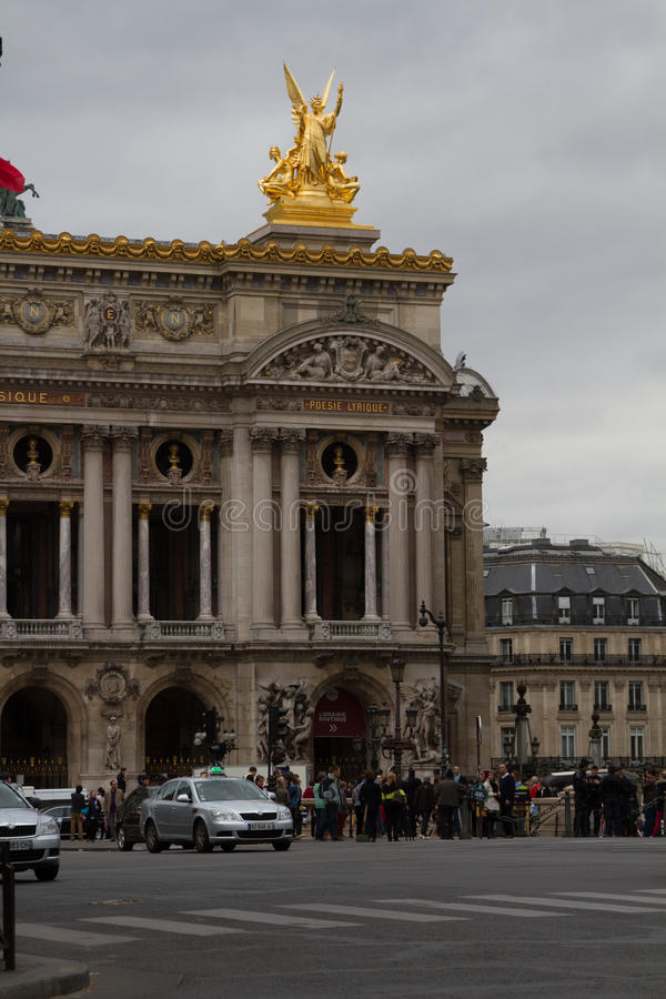Budynek Krajowa akademia muzyczna i Uroczysta opera w Paryż obrazy stock