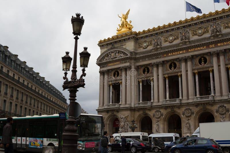 Budynek Krajowa akademia muzyczna i Uroczysta opera w Paryż zdjęcia royalty free