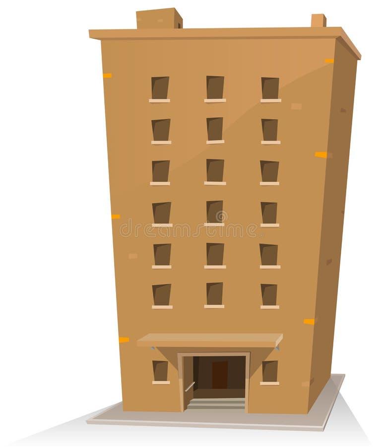 budynek kreskówka ilustracji