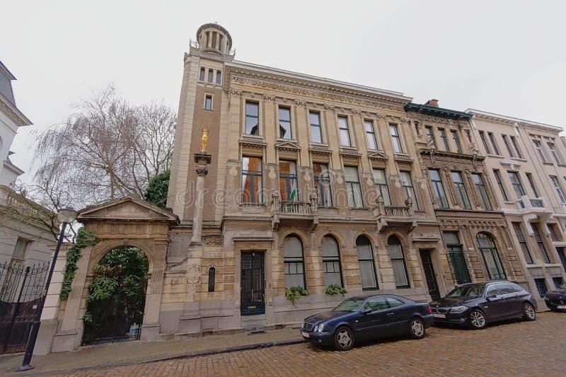 Budynek Lesotho konsulat zaszczyt, Antwerp, Belgia obrazy stock