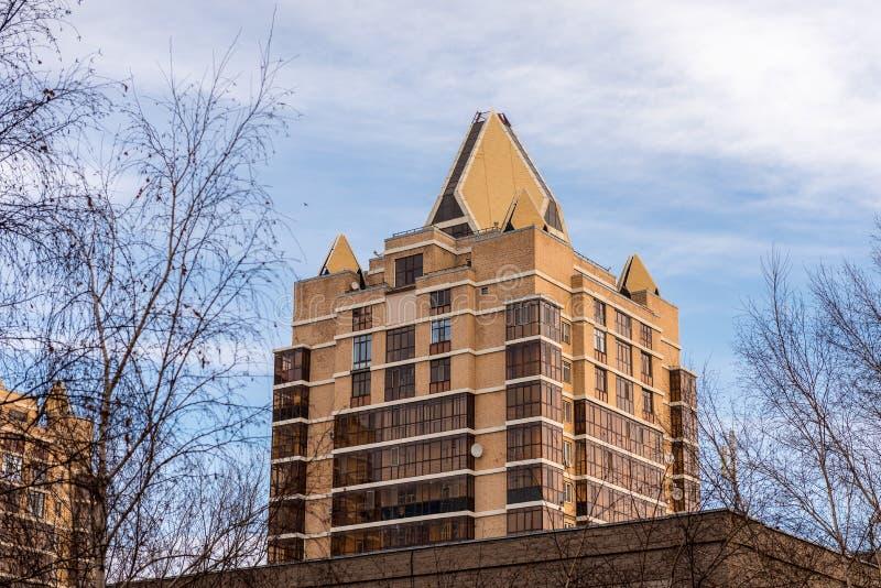 Budynek mieszkalny w Astana obrazy royalty free