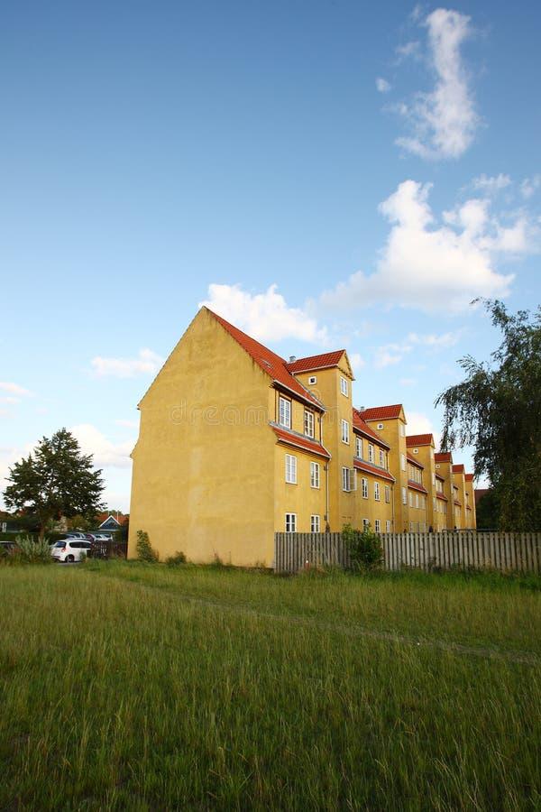Budynki w Kopenhaga przedmieściu zdjęcia royalty free
