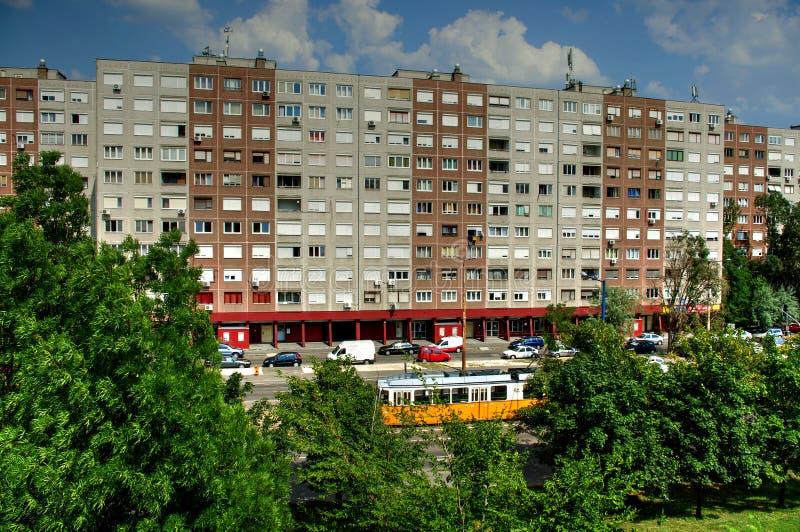 Budynek mieszkaniowy, Budapest, Węgry obrazy royalty free