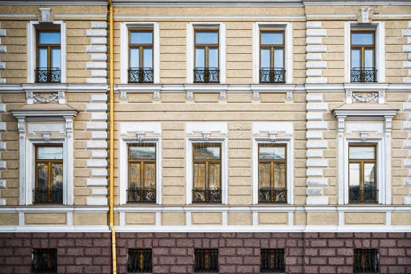 Budynek mieszkaniowy fasada zdjęcie stock