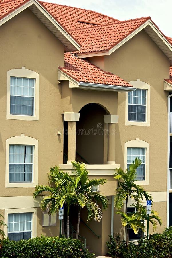 budynek mieszkaniowy Florida ozdobny zdjęcia royalty free