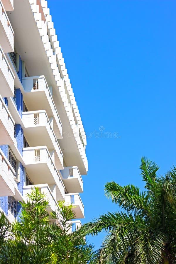 Budynek mieszkaniowy w Miami plaży, Floryda zdjęcie royalty free