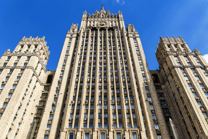 Budynek ministerstwo spraw zagranicznych rosjanin F fotografia royalty free