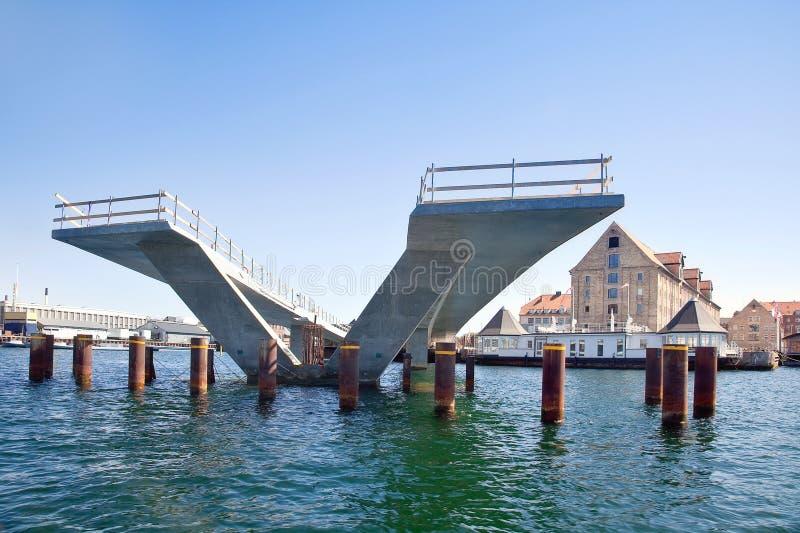 Budynek most jest w mieście Kopenhaga obraz royalty free