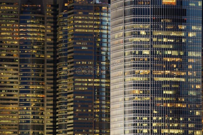 budynek nocy scena jednostek gospodarczych zdjęcia royalty free