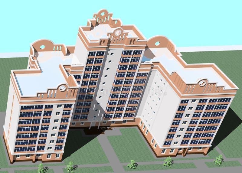Budynek odgórny Widok ilustracja wektor