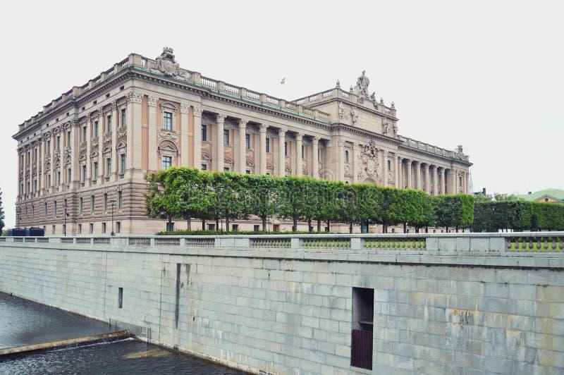 Budynek parlamentu dom Szwecja w Gamla stan, stary grodzki okręg środkowy Sztokholm obrazy stock